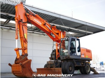 Колесен багер Hitachi ZX210W Outriggers - all functions